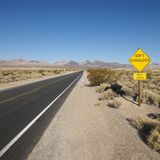 Road in desert. Royalty Free Stock Photos