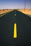 Road through Desert Royalty Free Stock Image