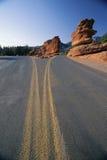 Road through the desert Stock Photography
