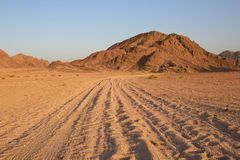 The road in the desert Stock Image