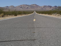 Road at the desert Stock Photography