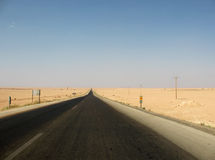 Road in the desert Royalty Free Stock Photography