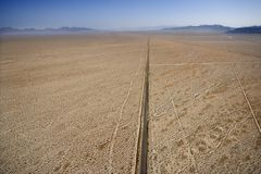 Road in desert. Royalty Free Stock Image