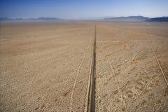 Road in desert. Royalty Free Stock Image