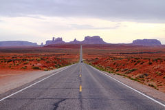 Road in a desert Royalty Free Stock Images