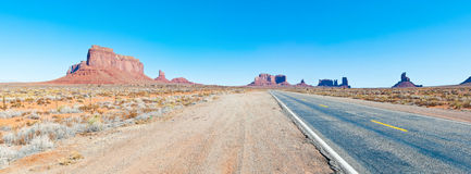 Road in desert Royalty Free Stock Photo