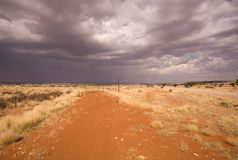Road on a desert in Africa. Desert road in Africa, heavy sky Stock Images