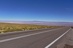 Road in the desert. Of Atacama, Chile Royalty Free Stock Image