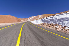 Road in the desert. Of Atacama, Chile Stock Images