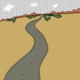 Road Through Desert Royalty Free Stock Photo