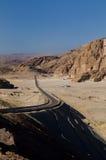 Road in desert. Road in the desert of Dahab in Egypt Royalty Free Stock Photos