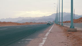 Road on the Desert stock footage