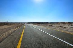 Road in the desert. Fragment of road in the desert Stock Images