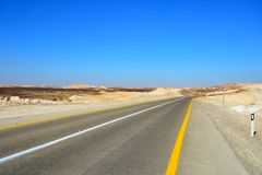 Road in the desert Stock Photography