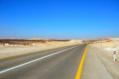 Road in the desert. Fragment of road in the desert Stock Photography