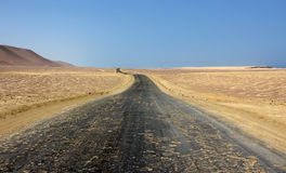 The road. A road in the desert of ica in peru Stock Photo