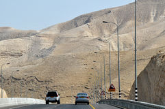 The road in the desert. Israel. Royalty Free Stock Images