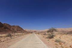 Road in the desert in Israel Stock Photos