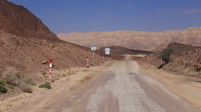 Road in the desert in Israel Royalty Free Stock Photography