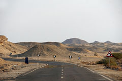 Road in desert landscape Royalty Free Stock Photo