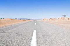 Road through the desert in Morocco Royalty Free Stock Photography