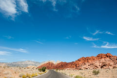 Road in the desert Royalty Free Stock Images