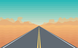 Road in The Desert Royalty Free Stock Image