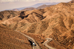 A road in desert mountains Royalty Free Stock Image