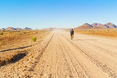 Road in the desert in Namibia. Royalty Free Stock Photo