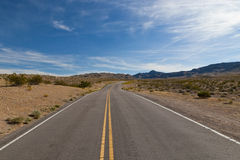 A road in the desert of Nevada, Royalty Free Stock Image