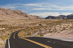 A road in the desert of Nevada Stock Image