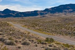 A road in the desert of Nevada Stock Photo