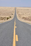 Road in the desert of New Mexico Royalty Free Stock Photos