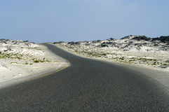 Road in the  desert in Oman Royalty Free Stock Photos
