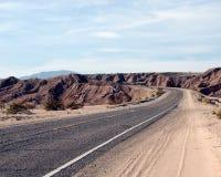 Road through the desert stock images