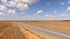 Road in the desert. stock footage