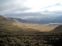 Road through desert terrain Royalty Free Stock Photography