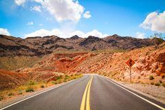 Road in a desert Stock Photos