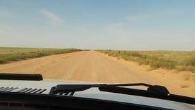 Road in the desert. stock video