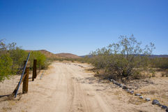 Road into the Desert Wilderness Royalty Free Stock Photo