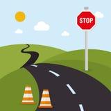 Road design, vector illustration. Stock Photo