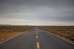 Road in Dessert Royalty Free Stock Photography