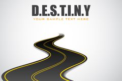 Road in Destiny Background Royalty Free Stock Photo