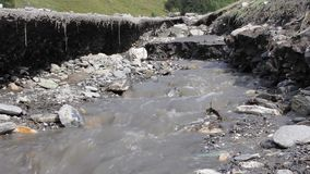 Road destroyed because of a rainstorm. Austria, salzburg stock video footage