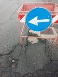 Road detour Royalty Free Stock Photo