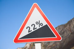 Road deviation Stock Image