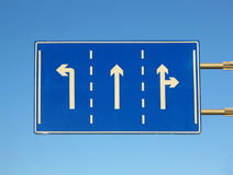 Road  Direction Arrow Stock Photography