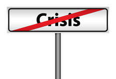 Road direction The end of crisis Royalty Free Stock Photo