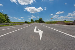 Road with directional arrow Royalty Free Stock Image