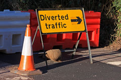 Road diversion sign Royalty Free Stock Photography